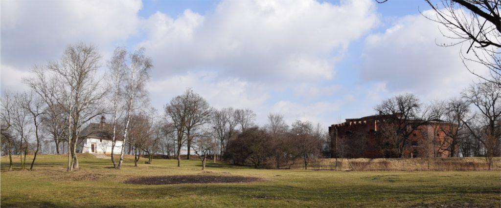 Widok na fort św. Benedykta oraz kościół św. Benedykta