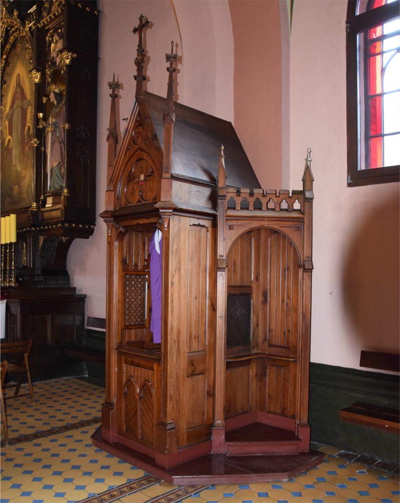 Konfesjonał, przy którym spowiadał się Karol Wojtyła w kościele Redemptorystów