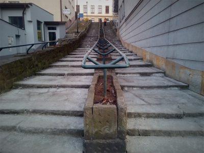 Widok na podgórskie schody