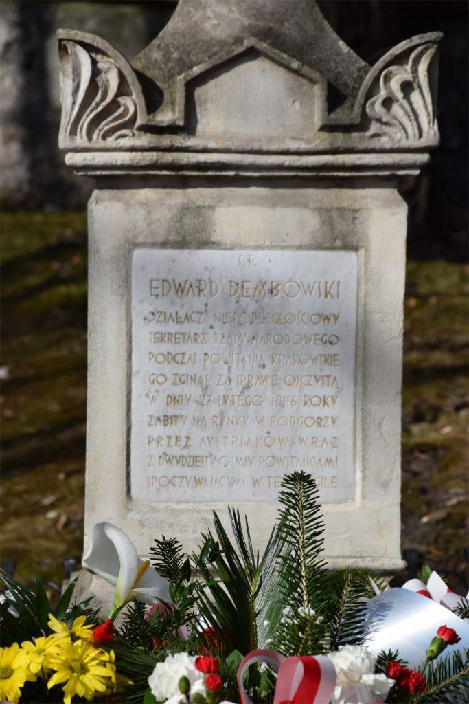 Epitafium na grobie Edwarda Dembowskiego